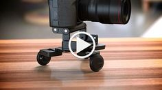 Pocket Skater 2 - edelkrone - Like a Hollywood dolly camera for your DSLR (or smartphone), the Pocket Skater 2 helps you achieve smooth, precise pans & steady motion shots for your video projects. 3 adjustable fold-out wheels & an edelkrone Flex-Tilt Head enable endless adjustment to help you nail every shot. $289