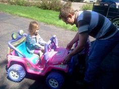 Barbie's first car crash.