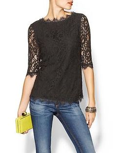 Holiday looks - christmas Pim + Larkin Boatneck Lace Top Looks Style, Style Me, Black Lace Tops, Look At You, Dress To Impress, Clothes For Women, Womens Fashion, How To Wear, Yellow Clutch