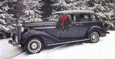 1936 Buick at Christmas Time