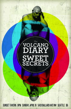 The Volcano Diary and Sweet Secrets at The Sunset Tavern in Ballard, Seattle Volcano, The Secret, Seattle, Sunset, Movie Posters, Sunsets, Film Poster, Popcorn Posters, Volcanoes
