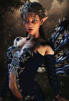 Fairies, Sprites, and such, Locked in gaze! Googley eyes!                                                                                                                                                      More