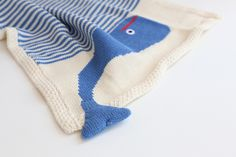 Organic Whale Snuggle Blanket #estella #baby #knits #blankets