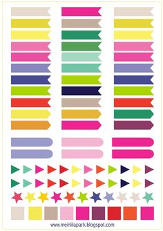 MeinLilaPark – DIY printables and downloads: Free printable calendar planner flags and markers - ausdruckbare Agenda-Sticker - freebie
