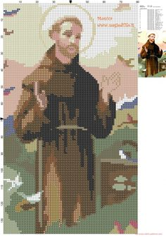 St. Francis of Assisi cross stitch pattern