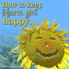 Keeping your farm girl happy can be a challenge, but Mike Barnett shares 10 ways guaranteed to help on Texas Agriculture Talks. Farming Quotes, Agriculture, Texas, Happy, Life