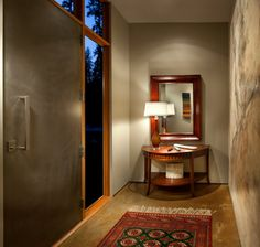 Cohen Residence contemporary entry Door & window layout