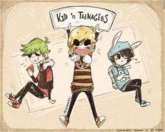 Kid 'n Teenagers by EYEB0NEZ