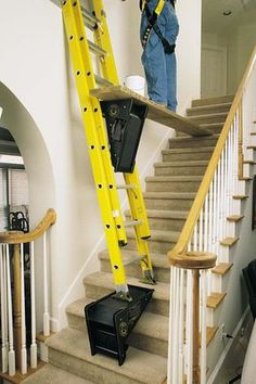 The PiViT Ladder Tool is the ultimate extension ladder leveler. This ladder leveler is a must have for any extension ladder owners. Ladder Leveler, Ladder Accessories, Wedding Accessories, Ladder Stands, Cool Tools, Diy Tools, Home Repair, Power Tools, Woodworking Projects