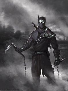 Ninja Batman Pointy Eared Ninja by nibelwolf.deviantart.com on @DeviantArt