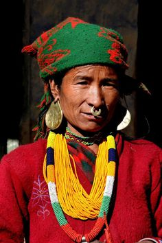 Lady from Simikot in her traditional attire by Yalamber Rai