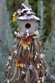 decorative tassel birdhouse first snow (sold)