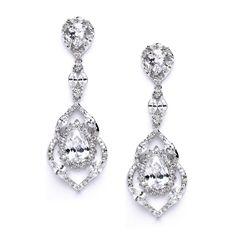 Camilla Cubic Zirconia Wedding Earrings