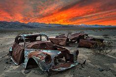Popular on 500px : Death Valley wrecks by frank_delargy