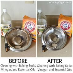Great kitchen cleaning tip - DIY tutorial on how to clean your stove burner drip pans. Those things get gross and this works!!