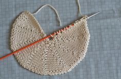 how to knit a circle