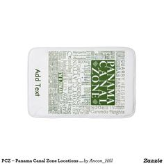 PCZ – Panama Canal Zone Locations with Map / Green Bathroom Mat