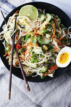 Cold Soba Noodle Citrus Salad