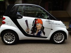 One Guy Teamed Up With His Artist Wife To Transform Their Nissan - Artist wife doodles husbands car