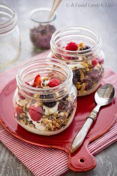 Mini Mason jar yogurt parfaits