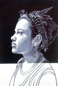 Retrato de Mi esposa  bolígrafo sobre papel 2014