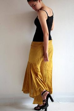 Hippie fisherman pants 148 in cotton mixed with silk and