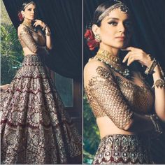 Kangana Ranaut looking beautiful as beautiful can get for Manish Malhotra 😍