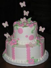 Lovely Butterfly Baby Shower Cake
