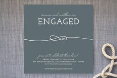 Tied Together Engagement Party Invitations by trbdesign at minted.com