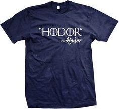 """HODOR""-Hodor - Game Of Thrones Funny Slogans Sayings Statements - Men's T-shirt"