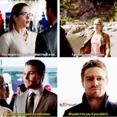 "But the way he says it in the last panel -- there's a clear subtext of ""and I wouldn't have you any other way."" #Olicity"