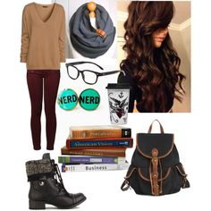 "College Outfit - ""Studying at the Library"""