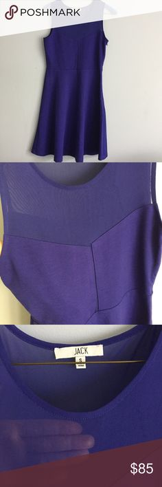 Purple Dress With Top Mesh Lining and Exposure Purple Dress With Top Mesh Lining and Exposure. Gorgeous dress in a vibrant purple, never worn. Size small in Jack from Jack BB Dakota. Jack by BB Dakota Dresses