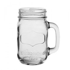 Vintage and classy charm with these lovely Mason Jar Mugs. By Les Bricoles de Nolou Designed in France Mason Jar Drinking Glasses, Mason Jar Mugs, Drinking Jars, Wheelbarrow, Summer Essentials, Jaba, Drinkware, Decoration, Yorkshire