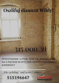 Oferta jakich mało na naszym poznańskim rynku: http://castle.pl/nieruchomosc,5793.html  Duże, przestronne do własnej aranżacji - lepiej być nie może :)   #nieurchomosci #mieszkanie #kamiencia #pokoj #biuronieruchomosci #posrednik #wtorek #potykacz #okazja #promocja #wilda #70m2 #poznan