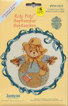 Cherished Teddies Roly Poly September Counted Cross Stitch Kit
