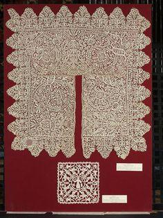 Italian Punto in aria needle lace, 1570-1629