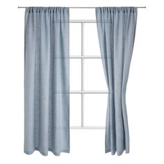 Discover our Fana Linen Curtain made from linen in light blue for a timelessly elegant home ✓ Free delivery over ✓ 100 days free returns ✓ Shop now! Extra Long Curtains, Dark Curtains, Curtains Living, Velvet Curtains, Linen Curtains, Living Room Accessories, Blue Palette, Curtain Lights, Glamour