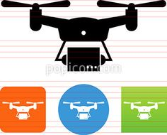 Drone Package Delivery Icon