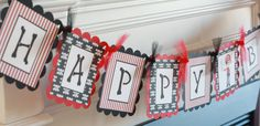 Pirate Party Pack SALE - Happy Birthday Banner, 12 Cupcake Toppers & Door Sign - Lots of Themes - FREE SHIPPING