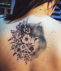 beautiful wolf tattoo © Sokol Ink
