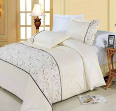 With Love Home Decor - Anna Egyptian cotton Embroidered Duvet Cover Set, $89.99