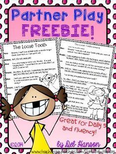 Free Partner Play for grades 2-3 (Focus on Fluency!)
