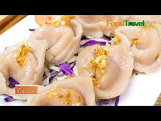 เกี๊ยวปลา | FoodTravel - YouTube Thai Cooking, Shrimp, Meat, Recipes, Food, Meals, Yemek, Recipies, Eten