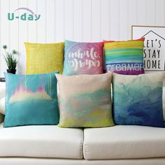 Rendering Color style One Side Printing Home Decor Sofa Car Seat Decorative Cushion Cover Pillow Cases Home Decor Sofa Almofada