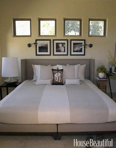 """Guest Bedroom  """"I love how the guest bed is close to the floor,"""" says designer Patrick Wade. """"It's easy to roll into and just lounge there, like you're in a cocoon."""" He and co-designer David DeMattei stayed in the room to make sure it had everything a guest would need."""
