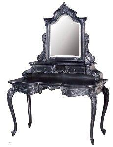 Moulin Noir Dressing Table & Mirror