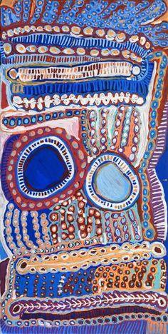 Murdie Nampijinpa Morris, Malikijarra Jukurrpa, 182x91cm | Aboriginal Art  | Art Ark - 1