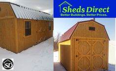 Sheds in the Snow!
