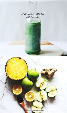 """Spirulina & Apple Smoothie + Implementing """"Superfoods"""" Easy + Quick + Delicious!"""